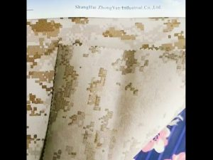 930D waterproof camouflage printed PU coated nylon oxford fabric