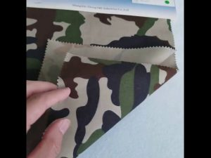 Camouflage pattern 8020 cotton polyester twill fabric for military uniform