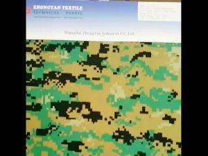 Digital woodland camouflage printed 1000d nylon similar cordura waterproof oxford fabric